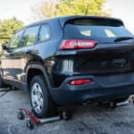 Rear driver corner shot damaged vehicle