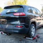 Rear passenger corner shot damaged vehicle
